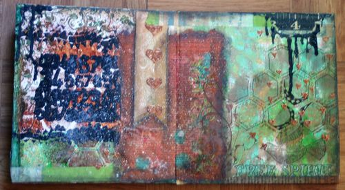 Cardboard Art Journal Inside 2