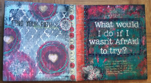 Cardboard Art Journal Inside 3