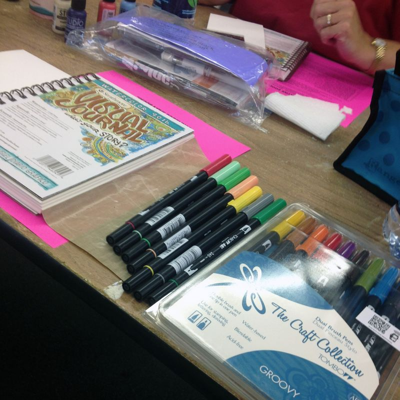 Doodling with Joanne Sharpe - Supplies at the ready