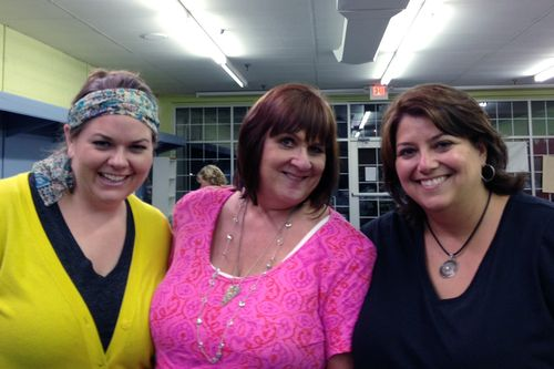 Doodling with Joanne Sharpe - Patty and I with Joanne
