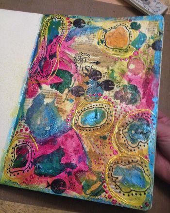 Go Fish Art Journal Page - Gwen Lafleur