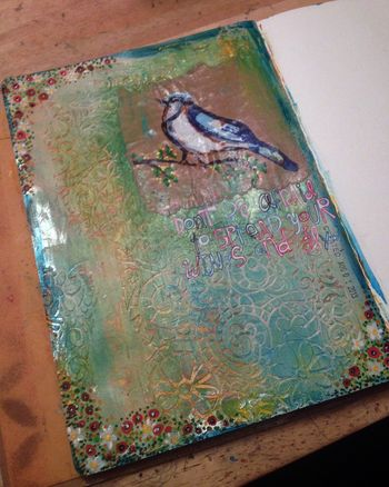 Spread Your Wings Art Journal Page - Gwen Lafleur