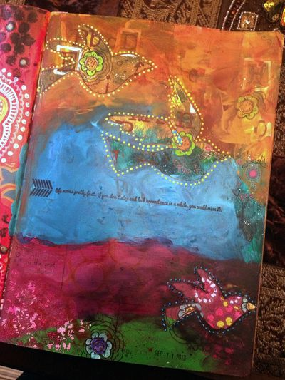 Life Moves Fast Art Journal Page - Gwen Lafleur
