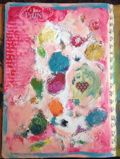 I Love Paint - Art Journal Page - Gwen Lafleur