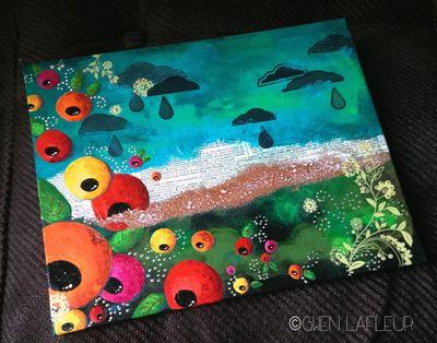 Sunshine and Rain unframed - Gwen Lafleur