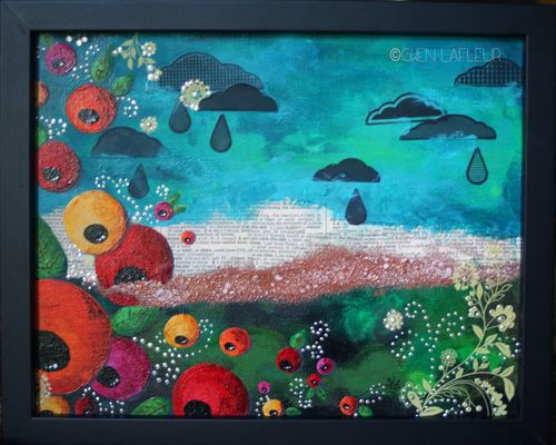 Sunshine and Rain Canvas - Gwen Lafleur