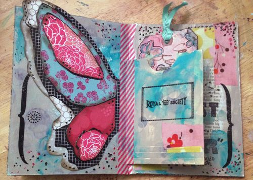 Cardboard Art Journal 2 - Cover