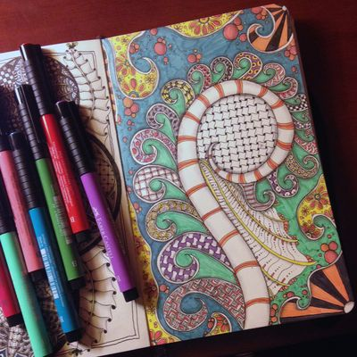 Colored Swirls Zentangle - Gwen Lafleur