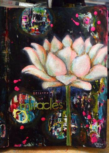 Believe in Miracles Art Journal Page 2 - Gwen Lafleur
