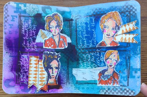Mini Art Journal page 1 - Gwen Lafleur