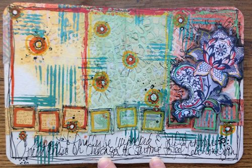 Mini Art Journal page 7 - Gwen Lafleur