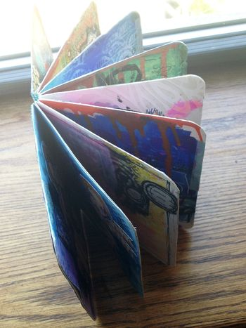 Mini Art Journal overview - Gwen Lafleur