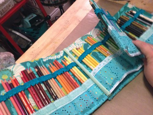 Homemade Colored Pencil Case Inside - Gwen Lafleur