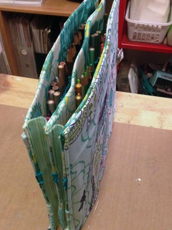 Homemade Colored Pencil Case Top and Spine - Gwen Lafleur