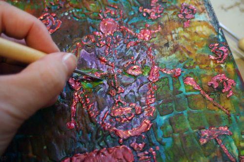 Orly Avineri Stencil Encaustic Painting 10 - Gwen Lafleur