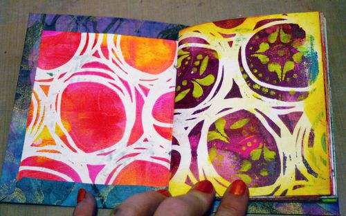 Mini Printed Art Journal 21 by Gwen Lafleur - Traci Bautista-StencilGirl
