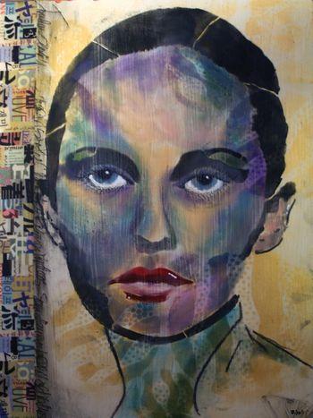 Timeless Woman 5 - Gwen Lafleur - StencilGirl-PanPastel Blog Hop