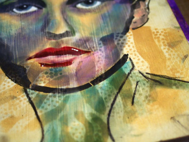 Timeless Woman 7 - Gwen Lafleur - StencilGirl-PanPastel Blog Hop