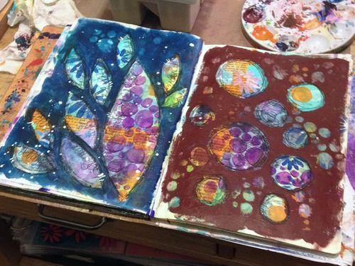 Art Journaling Live Art Journal Pages - Gwen Lafleur