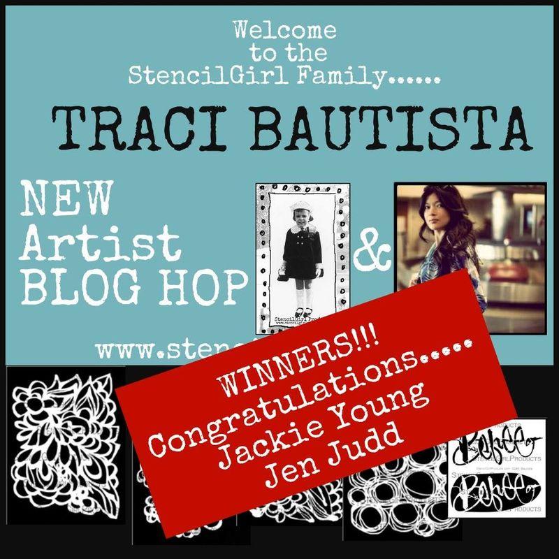 StencilGirl - Traci Bautista Blog Hop Winners