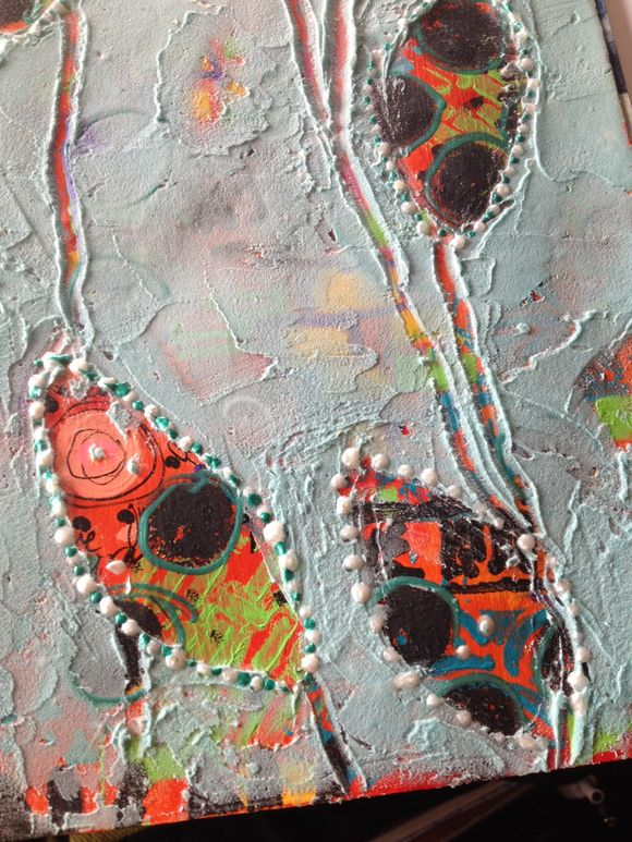 Art journaling with molding paste