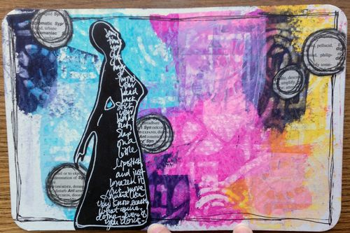 Mini Art Journal page 2 - Gwen Lafleur