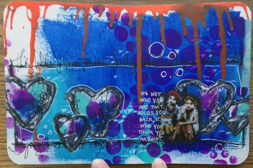 Mini Art Journal page 3 - Gwen Lafleur