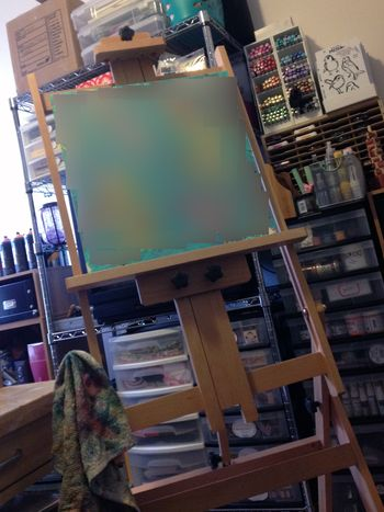 New easel