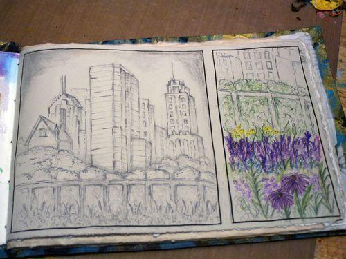 Artist and Sketchbook - Sketchbook page 2 - Gwen Lafleur