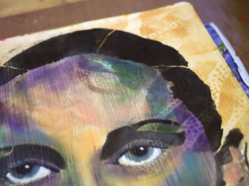Timeless Woman 8 - Gwen Lafleur - StencilGirl-PanPastel Blog Hop