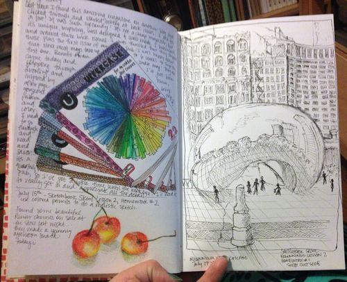 Sketchbook - pp6-7