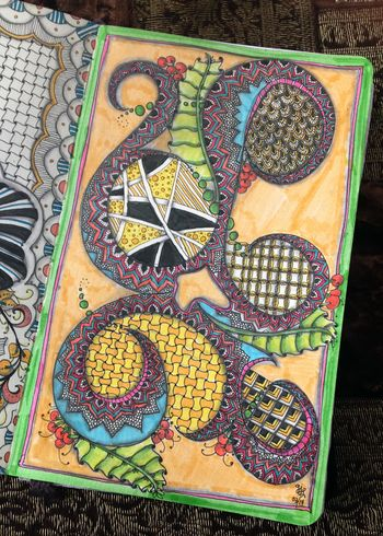 Colorful Swirled Zentangle - Gwen Lafleur
