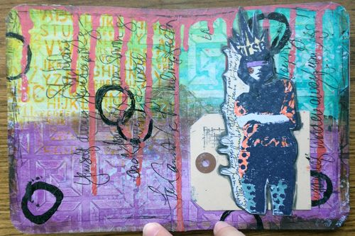 Mini Art Journal page 5 - Gwen Lafleur