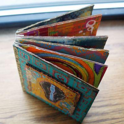 Stenciled Cardboard Art Journal Overview - Gwen Lafleur