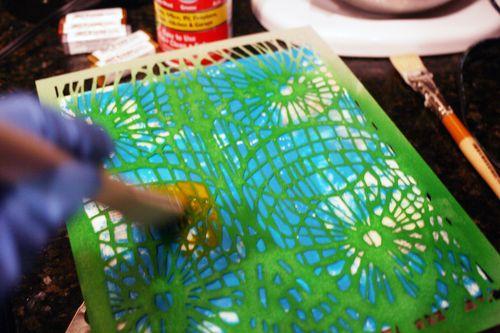 Orly Avineri Stencil Encaustic Painting 4 - Gwen Lafleur