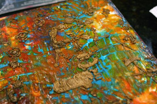 Orly Avineri Stencil Encaustic Painting 8 - Gwen Lafleur