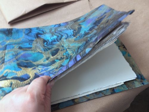 Artist and Sketchbook - Handmade Sketchbook - Gwen Lafleur
