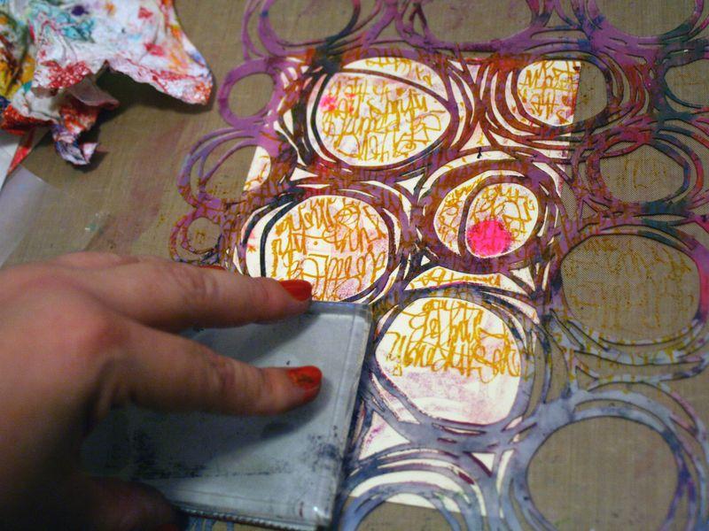 Printed Mini 9 by Gwen Lafleur - Traci Bautista-StencilGirl Blog Hop