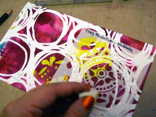 Printed Mini 10 by Gwen Lafleur - Traci Bautista-StencilGirl Blog Hop
