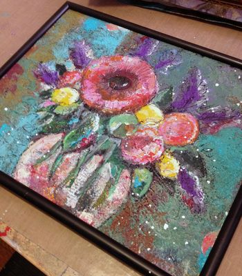 Mixed Media Flower Painting - Gwen Lafleur