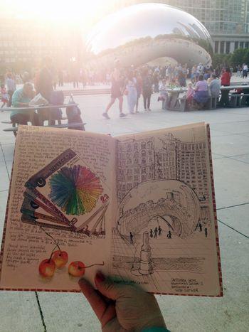 Sketchbook Skool Beginnings Lesson 2 - Drawing Outside - Gwen Lafleur