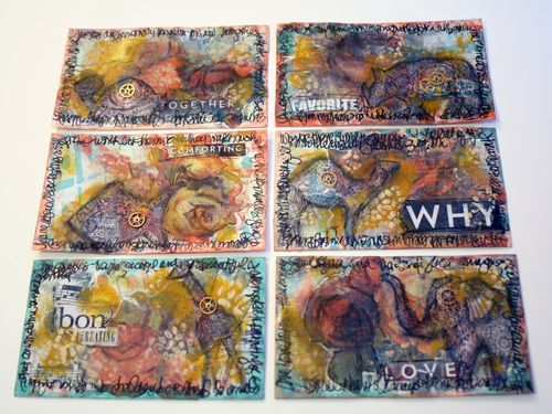 StencilGirl-VivaLasVegasStamps - Gwen Lafleur - Index Card Art Journal 8
