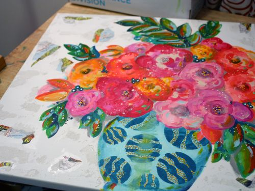 DecoArt Media and StencilGirl Painting Step 4 by Gwen Lafleur