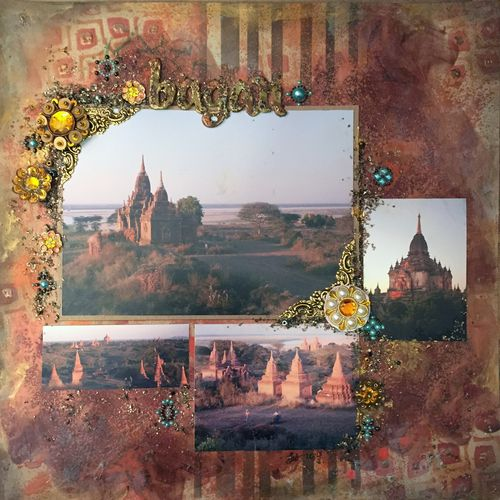 Bagan Scrapbook Layout - Gwen Lafleur