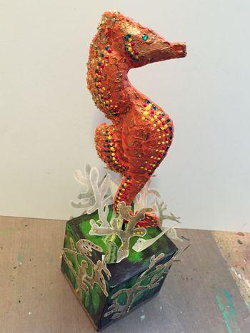 Seahorse Sculpture by Gwen Lafleur