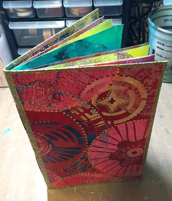 Gelli Printed Art Journal - Gwen Lafleur