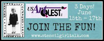 USArtQuest - StencilGirl Blog Hop Banner