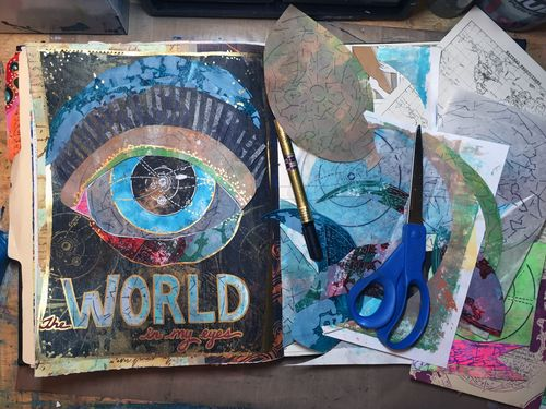 World in My Eyes After - July StencilClub - Gwen Lafleur