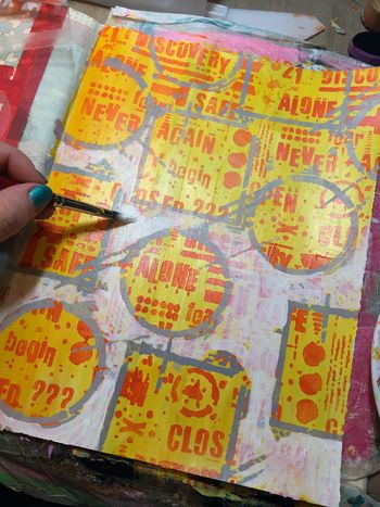 Art Journaling with New Seth Apter Stencils Part 2 - Gwen Lafleur