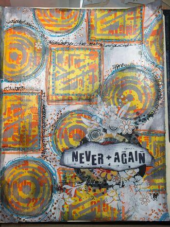 Never Again Art Journal Page - Gwen Lafleur